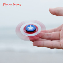 SHINEHENG EDC Hand Spinner LED Fidget Toy Super Hero Toy Spider Metal Anti Stress Wheel Toys Stres Spiner(China)