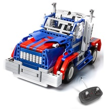 Free Shipping  4CH RC Assembly Blocks Toy Car DIY Electric Racing Model Bricks Radio Control Vehicle Car Toys for Children 8006