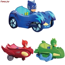 3.5 inch 3pcs/lot car Pj Characters Catboy Gekko Cloak Action Figure freddy Toys Boy Gift Plastic Pj Mask Cartoon Model(China)