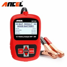 Ancel BST200 Russian Spanish Multi Languages Automotive 12V Car Auto Battery Tester 1100CCA BST System Analyzer Free Shipping(China)