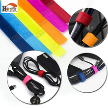 10 pcs/lot Practical colorful Velcro desktop winder cable organizer cable Home office computer headphone bobbin wires holder