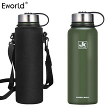 Eworld Insulated Thermos Bottle Accessory Vacuum Flask Thermal Insulation Bottle Storage Bag Sets for Travel Riding Outside Use(China)