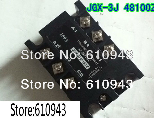JGX-3J-48100Z load voltage 40-480VAC control voltage 90-240VAC Three phase Solid state relay SSR relay Free shipping<br>
