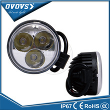Round 4x4 car car accessory truck light 12 volt 12w led work light for truck tractor offroad 4x4 ATV