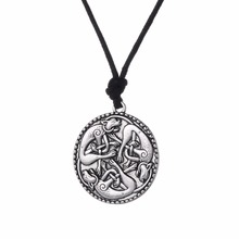 Lemegeton Knotted Cats Irish Pendant Necklace  Book of Kells cat jewelry Necklace Dropshipping Jewelry Suppliers china