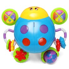 Puzzled Toys Infant Music Crawl Ladybug plaything Electric Sound Toy with Music & Light Toy Educational Toys For Kids Children(China)