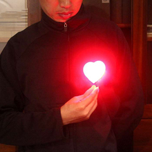 Heart light  (Red color)  magic tricks light love magic stage closeup fire props comedy Accessories Valentine's Day 81153
