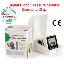 New Health Care Germany Chip Automatic Wrist Digital Blood Pressure Monitor Tonometer Meter for Measuring And Pulse Rate MBO-25
