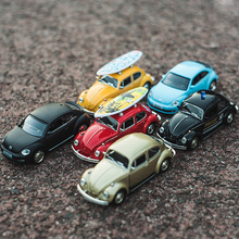5 inch multiple Colour 1:36 polic car Volkswagen Beetle Die-cast metal Alloy car model Children's toys ornaments Open the door(China)