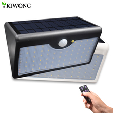 60 LED Solar Security Lights 5 Modes With Controller Motion Sensor Light Super Bright Waterproof IP65 Garden Wall Fence Light