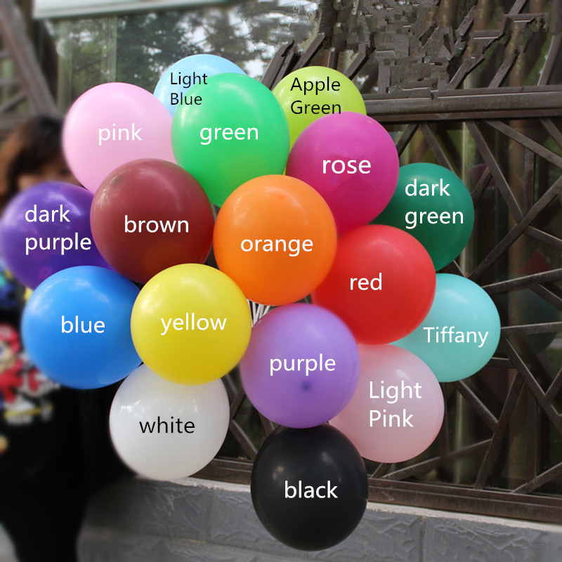 Balloons latex 10pcs 10 inch Wedding Decorations Ballons Decorations Happy Birthday Party Air Balls Helium Inflatable 2.2g(China)