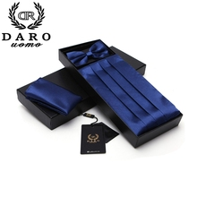 Premium Men's Tuxedo Cummerbund And Bow Tie Wedding Formal Prom Dinner Party Sets with Pattern Bowtie & Hanky Gravata DB010
