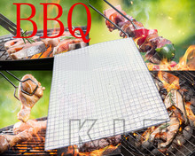 1PCs 40*30 Stainless steel Grid Design Field Electric oven Grilled Mesh Special-Purpose Barbecue tool Grill BBQ Barbacoa