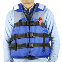 Life Vest Adult Life Jacket Utility Fully Enclose Adult Life Jacket Vest High Floating Foam With Whistle 4 Colors 2016 New(China)