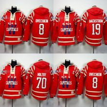 Throwback Hockey Jersey Hoodies 8 Alexander Ovechkin 19 Nicklas Backstrom 70 Braden Holtby Hoodie Sweater Ice Hockey Jersey (China)