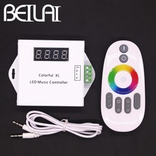 BEILAI DC 12V LED Music Controller Dream Color RGB LED Controller Touch Remote For WS2811 WS2812B WS2813 1903 IC LED Strip 5050(China)
