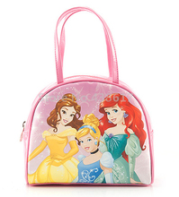 New Fashion Belle Cinderella Little Mermaid Princess Girls Pink Handbags Shell Tote Bag Kids Cartoon Bags For Children(China)