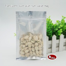 10*17.5cm Translucent pure aluminum self-styled bag/ Food storage packaging/ Cosmetics, Mask packaging. Spot 100/ package(China)