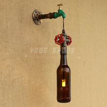 2017 new modern wine bottle wall lamp for bar/exhibition hall/cake shop(China)