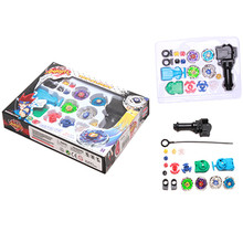 Beyblade Fidget Toys Sets Hand Spinner Sets Fusion 4D Gyro Box Kids Master Beyblade String Launcher Grip Xmas Gift(China)