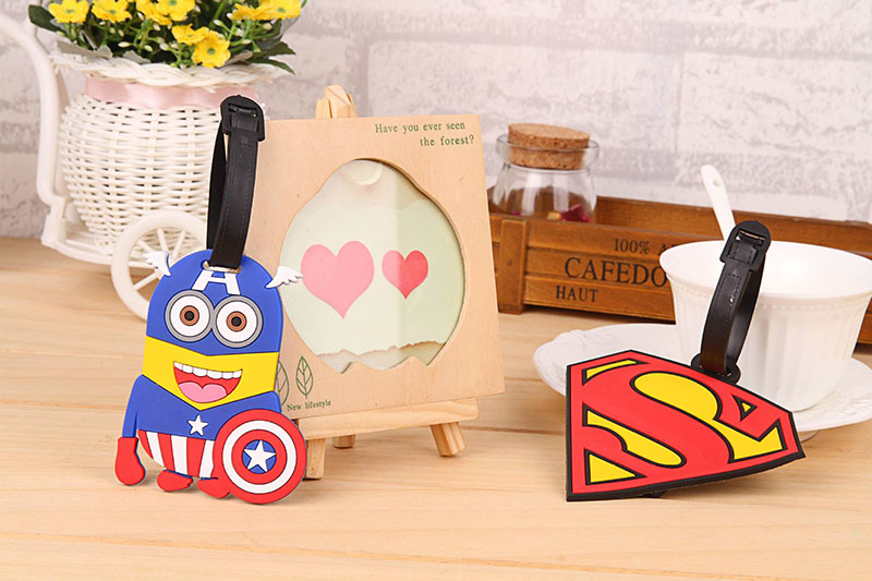 2018 New Fashion Silicon Luggage Tags Travel Accessories For Bags Portable Travel Label Suitcase Cartoon Style For Girls Boys (22)