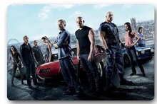High quality customized Fast And Furious Movie 40x60cm door mat carpet Bath mat kitchen mats home decoration