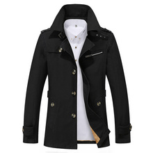 Hot Sale 2017 Thick Thin Two Style New Fashion Brand Men Jacket Coats Long Overcoat Cotton Jackets Mens Outerwear Parka Plus 5XL
