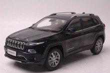 1:18 Diecast Model for Jeep Cherokee 2016 Blue SUV Alloy Toy Car Collection Gifts(China)