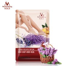 Remove Dead Skin Exfoliating Foot Mask Ginger and Lavender Nourished Caring Foot Care Mask Peeling Cuticles Heel Feet Care Cream(China)