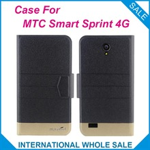 5 Colors Hot! MTC Smart Sprint 4G Case Fashion Business Magnetic clasp Flip Leather Exclusive Case For MTC Smart Sprint 4G
