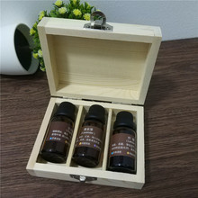 Pure Wood Handmade Rectangular Box with Hinge Lid 3 Grids Box for 15ml Standard Oil Bottle Essential Oil Storage Box11.5*9*4.3cm