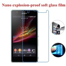 New Nano-Coated Explosion-proof Soft Tempered Glass Protective Film for Sony S P SP ZL L J Xpria U T Go Ion V ZR Ray