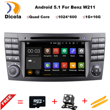 Quad Core Android 5.1 Car DVD Player For Benz E Class W211 W219 W463 Car Stereo with Parrot Bluetooth Radio Canbus wif+ Free Map
