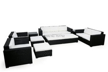 Hot sale SGE-13106A outdoor furniture rattan synthetic sofa set(China)