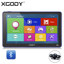 XGODY 886 7 Inch 256M+8G Bluetooth AV-IN Car Truck GPS Navigation Capacitive Screen FM Navigator Rear View Camera Europe Maps