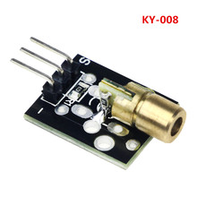 5pcs/lot KY-008 650nm arduino Laser sensor Module 6mm 5V 5mW Red Laser Dot Diode Copper Head