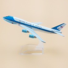 16cm Air United States Of America Airlines Air Force One Boeing 747 B747 Plane Model Aircraft Airways Airplane Model(China)