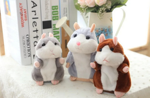 2017 Talking Hamster Mouse Pet Plush Toy Hot Cute Speak Talking Sound Record Hamster Educational Toy for Children Gift plush-022