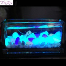 50pcs Glow In The Dark Artificial Luminous Pebbles Stone Aquarium Fish Tank Decoration Accessories(China)