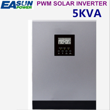 EASUN POWER Solar Inverter 5KVA 48V 220V Pure Sine Wave Hybrid Inverter Built-in 50A PWM Solar Charge Controller Battery Charger(China)