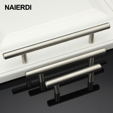 "NAIERDI 4"" ~ 24'' Stainless Steel Handles Diameter 12mm Kitchen Door Cabinet T Bar Straight Handle Pull Knobs Furniture Hardware"