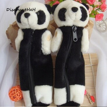Cute kawaii 3D plush panda pencil case large capacity school supplies novelty item for kids(China)