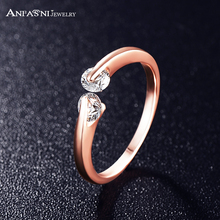 ANFASNI Shopping Festival Fashion Jewelry Ring Rose Golden Color High Quality AAA Cubic Zirconia Women Ring CRI0115-A