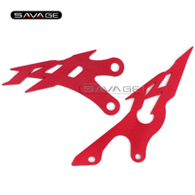 For YAMAHA YZFR1 YZF-R1 2009 2010 2011 2012 2013 2014 Red Foot Peg Heel Plates Guard Protector Motorcycle Accessories