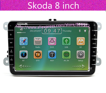 Free Shipping 8 inch car dvd For SKODA fabia / 10.11 Octavia / skoda superb Gps Radio