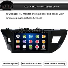 HD 1024*600 Touch screen 10.2 inch Android 4.4 Car GPS for Toyota Levin Navigation Radio Stereo Bluetooth wifi Mirror Link(China)