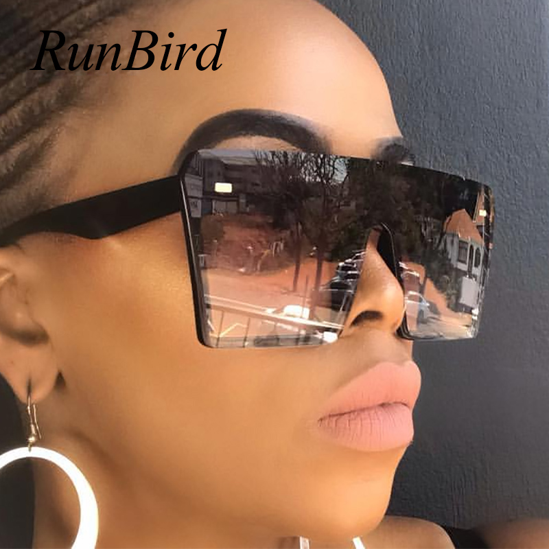 HBK Square Sunglasses Oversized Big Frame Vintage Women  Designer Luxury   Fa...