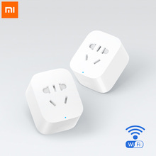 Original Xiaomi Smart Socket Intelligent Plug Basic WiFi Wireless Remote Accept EU US AU Plug Adaptor Power on/off with phone(China)