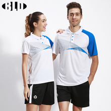 BLD Table Tennis Clothes Set for Men and Women Striped Quick dry Breathable Sport Shirts Shorts Badminton Tennis Clothing Suit