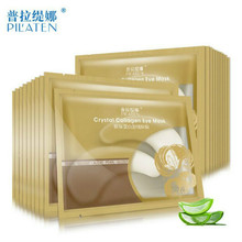 20pcs=10packs PILATEN Gold Crystal Collagen Eye Mask Hotsale Eye Patches For The Eye Anti-Wrinkle Remove Black Eye Face Care(China)